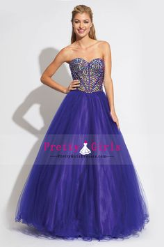 Bright 2014 New Arrival Sweetheart A Line Rhinestone Beaded Bodice Prom Dress