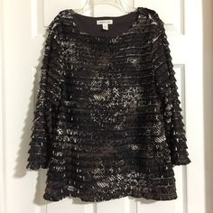My Coldwater Creek Ruffle Top by Coldwater Creek! Size 16 / XL for $$20.00. Check it out: http://www.vinted.com/womens-clothing/blouses/21432167-coldwater-creek-ruffle-top.