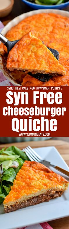 Slimming Eats Syn Free Cheeseburger Quiche - gluten free, Slimming World and Weight Watchers friendly astuce recette minceur girl world world recipes world snacks Slimming World Burgers, Slimming World Beef Recipes, Slimming World Quiche, Slimming World Dinners, Slimming World Diet, Slimming Eats, Slimming Worls, Quiche Recipes, Ww Recipes