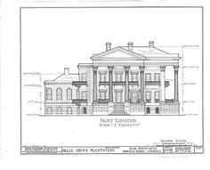 HABS LA,24-WHICA.V,1- (sheet 4 of 36) - Belle Grove, White Castle, Iberville Parish, LA