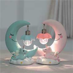 This super sweet Night Light will add a warm glow to any little unicorn fan room. This unicorn night light lamp is made from resin and metal, so very durable. It gives off a soft light, perfect for a little one's bedroom or nursery. Unicorn Room Decor, Unicorn Bedroom, Unicorn Rooms, Cute Night Lights, Led Night Light, Night Lite, Girl Room, Baby Room, Nursery Room