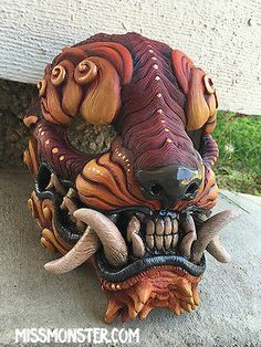 "handmade urethane mask ""Sentinel"" missmonster in Collectibles, Holiday & Seasonal, Halloween 
