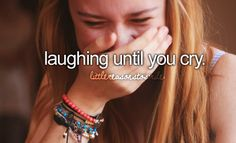 Check. Usually happens when I was emotional a while before then I laugh and all the tears come too.