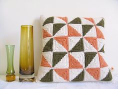 Patchwork style cushion by Emma Lamb