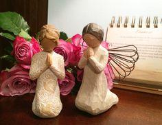 Willow tree figurines. Angel of prayer. Prayer if peace.