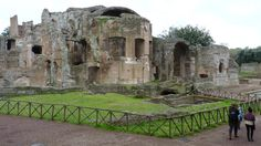 Rome - Hadrian's Villa at Tivoli, the great baths