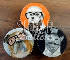 Sugar Buttons Cakes | Hand painted Cupcakes