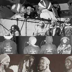 *The I-Threes* & Bob Marley. More fantastic pictures and videos of *Bob Marley & The I-Threes* on: https://de.pinterest.com/ReggaeHeart/