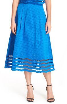 Sachin & Babi Noir 'Toni' Perforated Eyelet Ball Skirt available at #Nordstrom