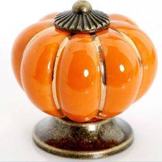 Kitchen Knobs Orange Ceramic Knobs / Dresser Drawer by LBFEEL, $3.80