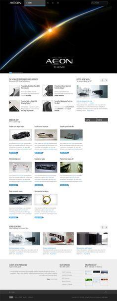 AEON, WordPress Responsive Dark Portfolio Theme