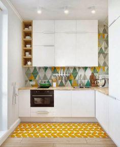 Des cuisines de couleurs