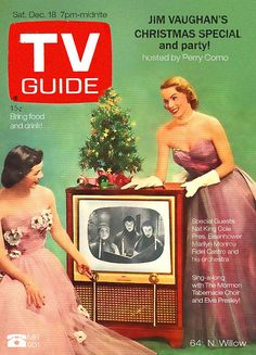 1950's and 1960's -- the CHRISTMAS SPECIALS on TV -- Ladies in ballgowns, coming right into your living room to make things festive!