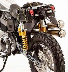 Harley-Davidson Sportster modified for trail riding.
