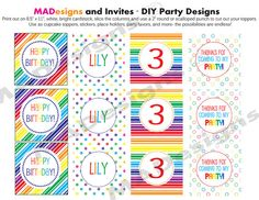 Rainbow party circles