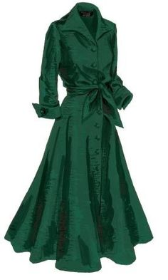 Made for mistletoe: J. Peterman Company's vintage-inspired silk dupioni dress. Image source Outfits vestidos green vintage dresses 12 best outfits - Page 9 of 12 - cute dresses outfits Vintage Outfits, Vintage Fashion, Green Vintage Dresses, 1950s Dresses, Vintage Inspired Outfits, Dresses Dresses, Dress Vintage, Cute Dress Outfits, Green Outfits