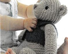 PDF Baby Jacket Knitting Pattern Vintage Retro Baby Jacket | Etsy Teddy Bear Patterns Free, Teddy Bear Knitting Pattern, Baby Knitting, Knitting Patterns, Christmas Teddy Bear, Cute Teddy Bears, Crochet Bear, My Collection, New Girl