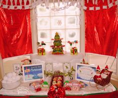 Awesome Elf party!  See more party ideas at CatchMyParty.com!  #partyideas #christmas