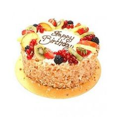An exotic combo of butterscotch with fresh fruits makes this cake the all time favorite for people of all age groups. The cake can be received within hours of placing the order and there is no shipping charges till 10 pm. Butterscotch Cake, Online Cake Delivery, Heart Shaped Cakes, Pineapple Cake, Organic Recipes, Yummy Cakes, Fresh Fruit, Cheesecake, Birthday Cake