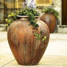 Rustica Oil Jar Fiberglass Planter