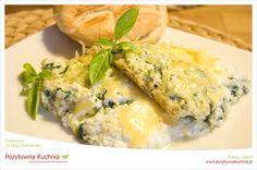 Zapiekanka szpinakowo-twarożkowa - #przepis na zapiekankę ze #szpinak.iem  http://pozytywnakuchnia.pl/zapiekanka-szpinakowo-twarozkowa/  #obiad #zapiekanka #kuchnia