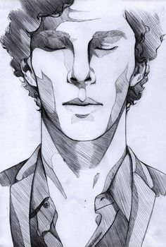 "Portrait zeichnen The lonely - Sherlock by Mi-caw-ber ""Broken pieces of A bare. Portrait zeichnen The lonely - Sherlock by Mi-caw-ber ""Broken pieces of A barely breathing story Where there once was"