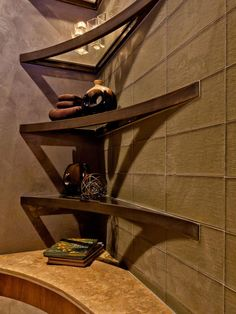 Metal corner shelving