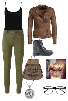 """""""Untitled #17"""" by iris-nichole ❤ liked on Polyvore featuring M&Co, 7 For All Mankind, VILA, Hera, Wilsons Leather, Carolina Glamour Collection, women's clothing, women, female and woman"""