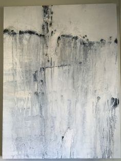 The Plunge is a large 30 x 40 black and white original, one of a kind acrylic, abstract painting. Art by Niurys. SOLD. Not available.