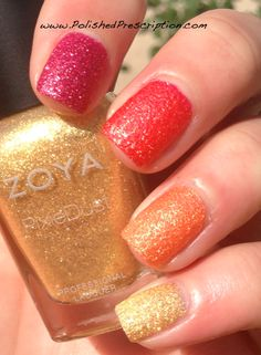 Polished Prescription: Zoya Summer PixieDust Ombre Mani.   These polishes are absolutely incredible, and this collection is my favorite of the year thus far, hands down!