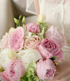 Image detail for -pink-rose-peonies-wedding-bouquet-vanillarose-e Peony Bouquet Wedding, Peonies Bouquet, Wedding Flower Arrangements, Pink Peonies, Rose Bouquet, Rose Wedding, Dream Wedding, Boquet, Ivory Wedding