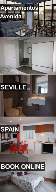 Hotel Apartamentos Avenida in Seville, Spain. For more information, photos, reviews and best prices please follow the link. #Spain #Seville #ApartamentosAvenida #hotel #travel #vacation
