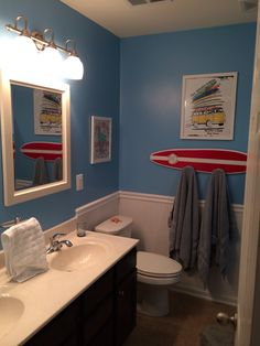 This Bathroom Is Perfectly Nautical With Access To The Beach. @Pottery Barn  Kids | Beach Inspired Bathrooms | Pinterest | Kid Bathrooms