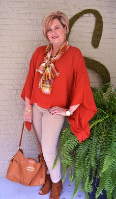 Fashion over 40 @50isnotold.com Poncho styling series 1 of 5