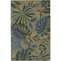 Addison Nassau Tropical Palms /Multi Plush Area Rug