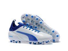 Puma evoTOUCH 1 FG White & True Blue Soccer Cleats