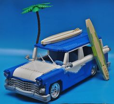 Custom Lego, Custom Cars, Cool Lego, Awesome Lego, Lego Kits, Lego Truck, Amazing Lego Creations, Lego Man, Lego Design