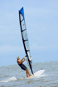 Windsurfing just off of East Beach on St. Simons Island.  www.GoldenIsles.com