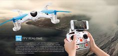 MJX X300C FPV 2.4G 6 Axis Headless Mode RC Quadcopter With HD Camera