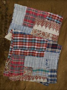 Plaid Patchwork Scarf - Denim & Supply  Scarves - RalphLauren.com