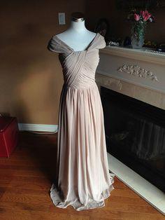Tan de Dama de honor vestido de Prom 2016 modesto por HolliexKate