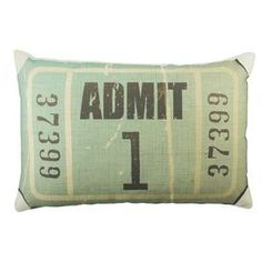 ticket pillow. So cute for home theatre or movie night!