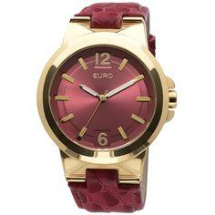 Relógio Feminino Analógico Euro Sylt EU2035LRP/2R - Vermelho - euro