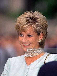 A Portrait Of Princess Diana Laughing During Her Visit To The Northwestern University In Chicago, USA.
