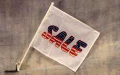 Sale USA Car Advertising Car Window Flag