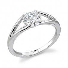 low set diamond wedding rings