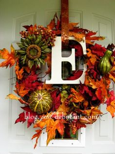 DIY Fall Wreaths Ideas - Classy