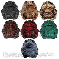 Resin-Frog-Box-Toad-Storage-Box-Container-Ashtray-Red-White-Green-Black-Blue