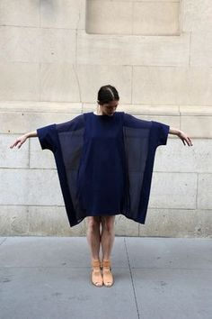 parkstreetblog: MARIOS COTTON AND SILK GEORGETTE ACCORDION DRESS. No. 6 Daily