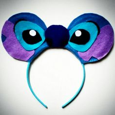 Stitch inspired Mouse Ears by MakeMeMinnie on Etsy